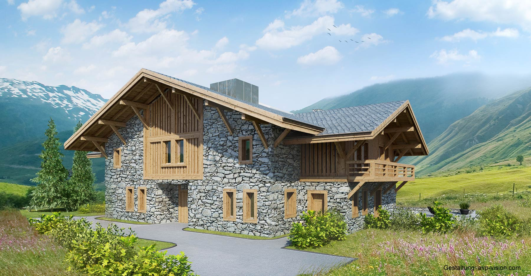 Andermatt Swiss Alps AG Relies On AGs Experience Traditional Gstaad Style Chalets Combined With