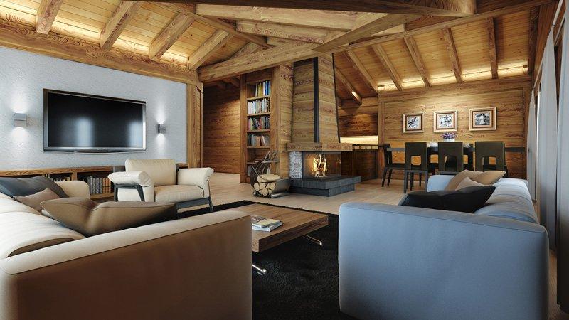hauswirth architekten - property to buy | gstaad | switzerland - Architekt Wohnzimmer
